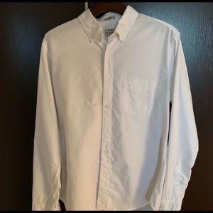 2- Crew White Slim All Cotton Oxford Medium